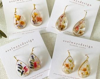 Statement Earrings Birthday Gift Gift For Her Handmade Resin Earrings Mother/'s Day Gift Orange Flake Circle Resin Earrings