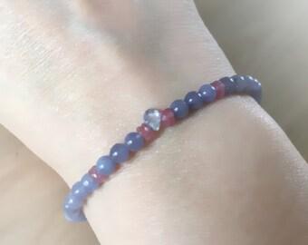 Genuine sapphire bracelet, sapphire bracelet, sapphire jewelry, fine jewelry, September birthstone, genuine sapphires, peach sapphires, 14k