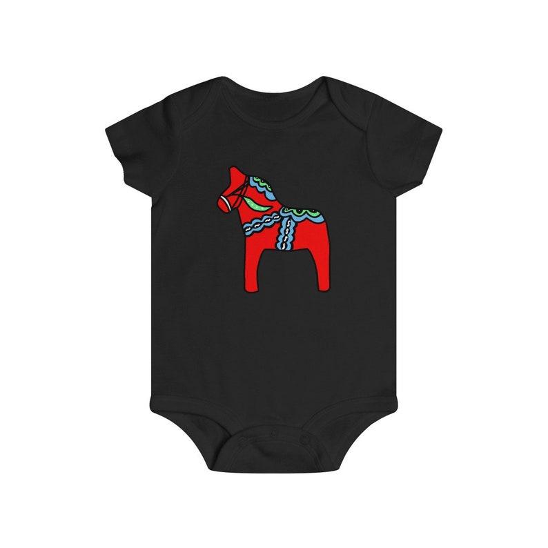 Scandinavian Baby Clothes Swedish Kids Sweden Baby Clothes Sweden Bodysuit Swedish Baby Clothes Swedish One Piece Swedish Dala Horse