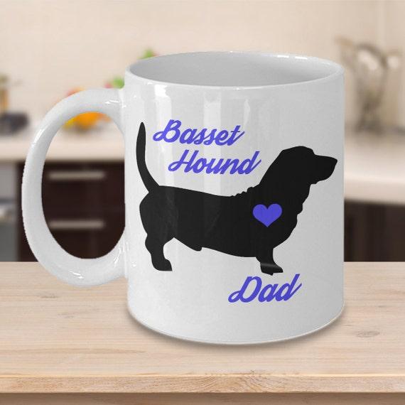 Personalized with any name added free Fine Bone China Mug Basset Hound
