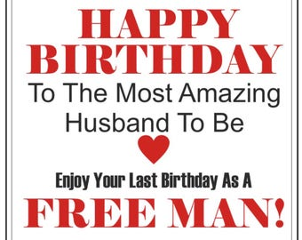 future husband birthday card groom birthday card husband to be personalised birthday card