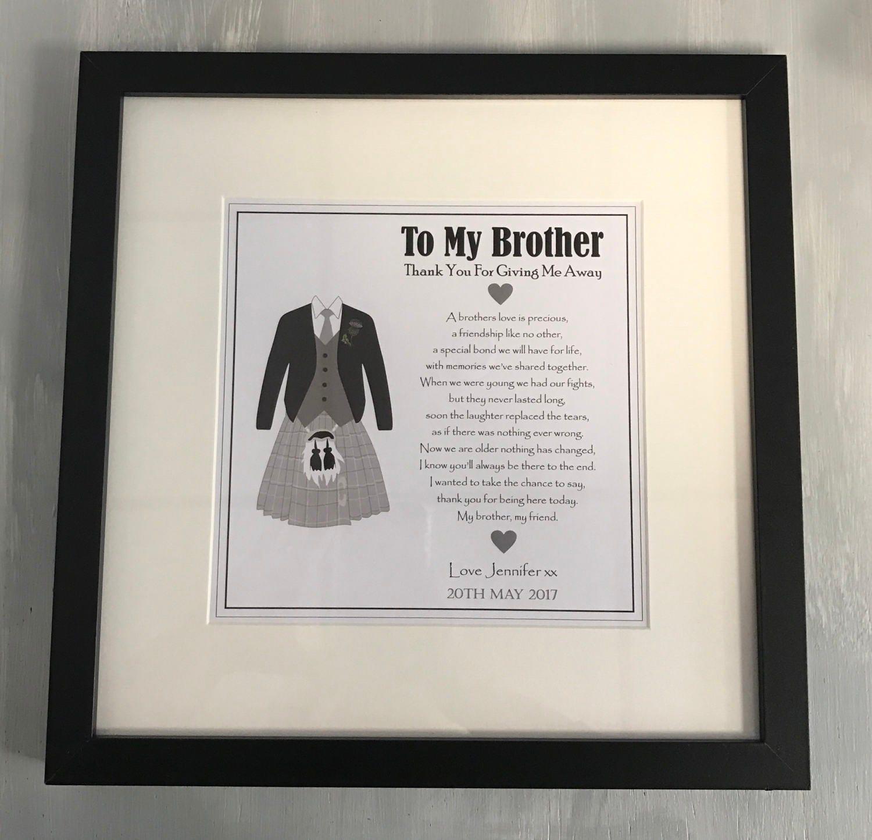 Brother Of The Bride Gift Scottish Kilt Illustration To My