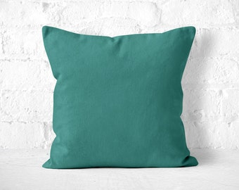 Teal Throw Pillow, Cute Throw Pillow, Accent Pillow, Teal Pillow Case, Teal Pillow, Minimalist Pillow, Pillow with insert, Teal Toss Pillow