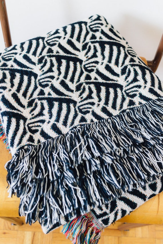 Zebra Print Blanket Black White Throw Blanket For Animal Etsy