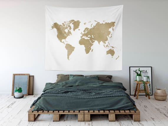 Gold map tapestry worldmap travel tapestry world map kids gumiabroncs Images