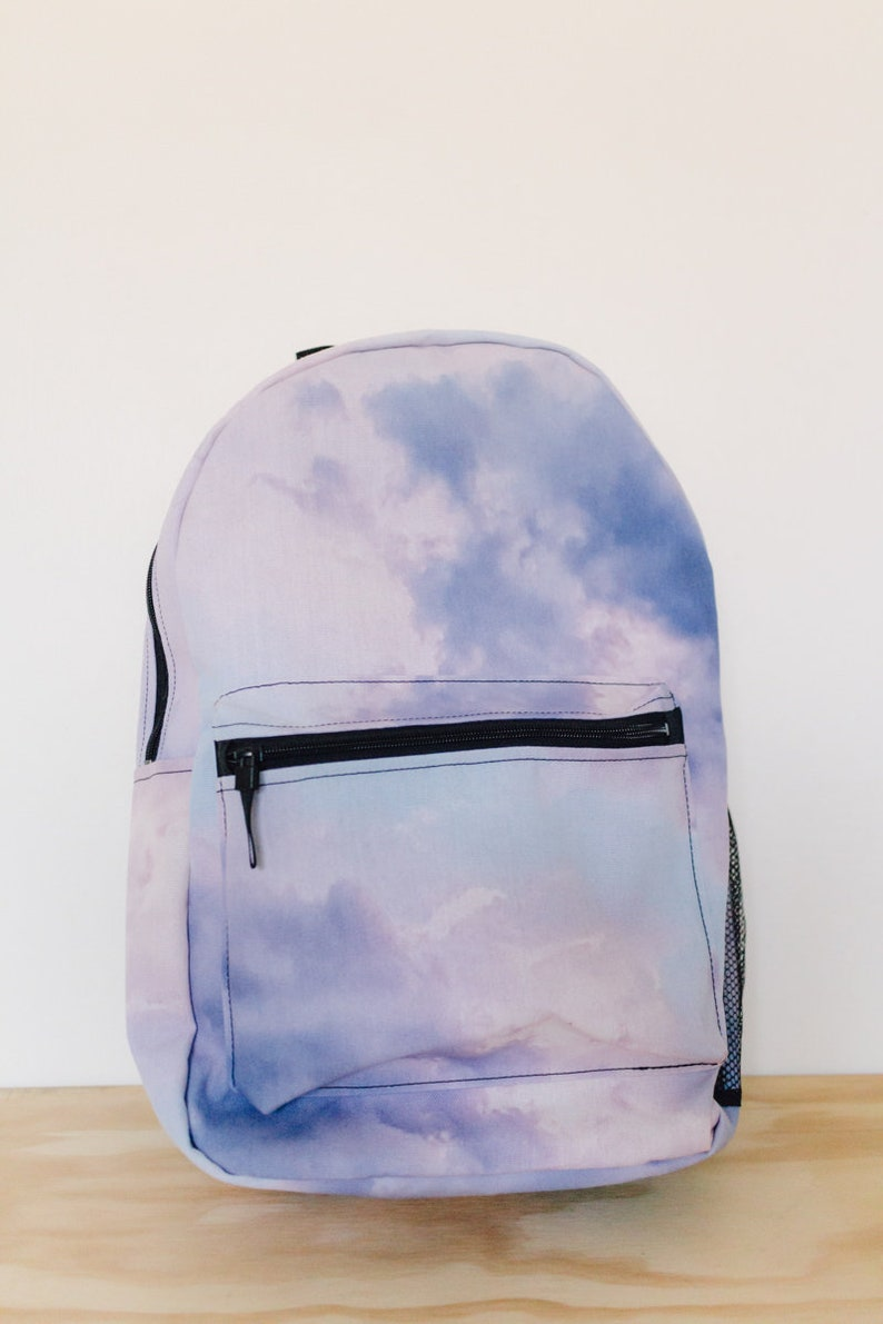 fe34c8de5a8e Purple Clouds Backpack - Back To School, Backpack School, Backpack Women,  Backpack Kids, Backpacks for Girls, Purple Backpack