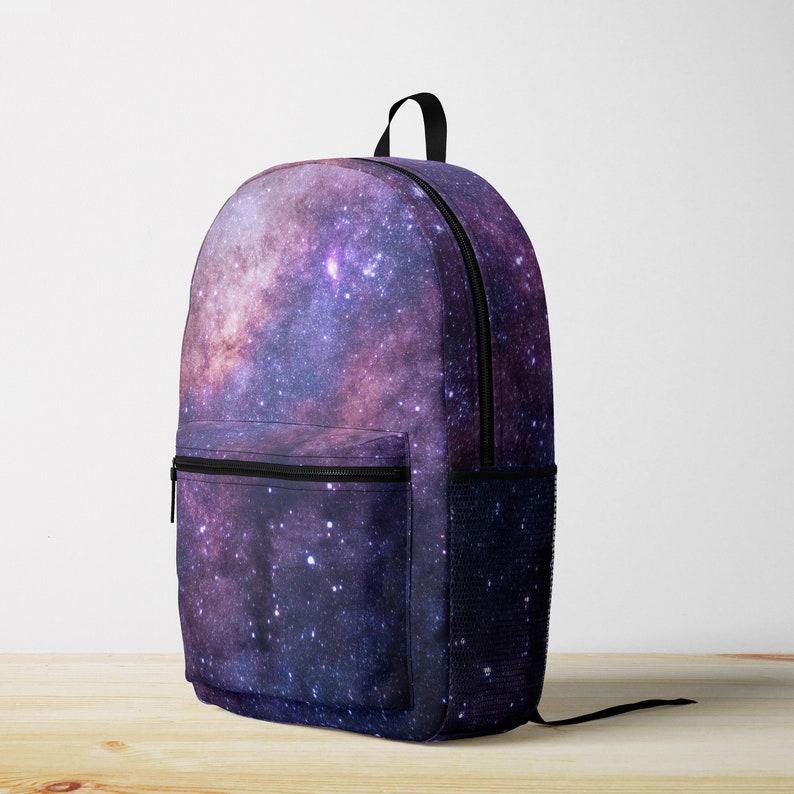 e96b43d0a382 Galaxy Backpack - Purple Stars, Back To School, Canvas Poly Travel Bag for  Women, Men, Boys & Girls