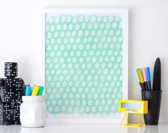 Watercolor Printable, Abstract Art Print, Printable Wall Art, Mint Printable Art, Printable Nursery, Printable Office Art, Downloadable Art