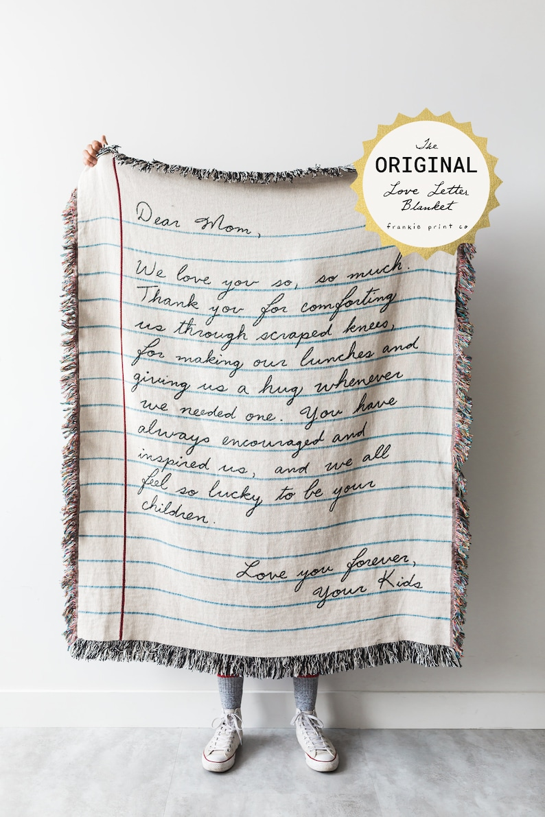 the original love letter blanket mothers day gift idea