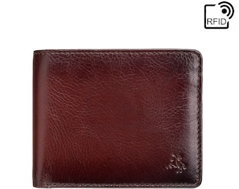 8f8ab1fa433e VISCONTI Burnished Tan Leather Wallet - Handmade Wallet With Cash, Card and  Coin Section - Designed Billfold Wallet For Men - Arthur AT60