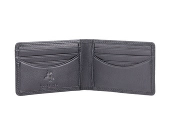 Visconti HT9 Mens Genuine Leather Bifold Wallet ID Credit Card Holder Black Gift