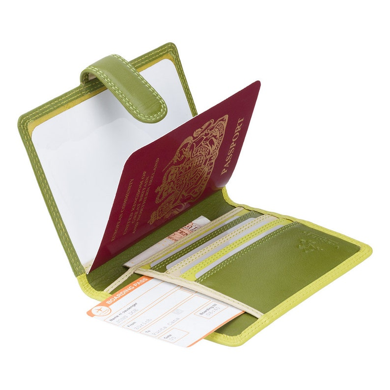 Card Wallet Sumba Passport Holder Travel Accessories Lime RB75 Rainbow Collection Colorful Green Passport Cover with RFID