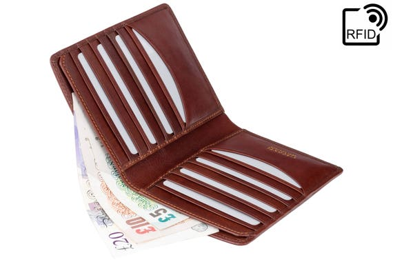 Real Leather RFID Wallet Cards /& Notes Visconti Luxury Quality in Gift Box TSC49