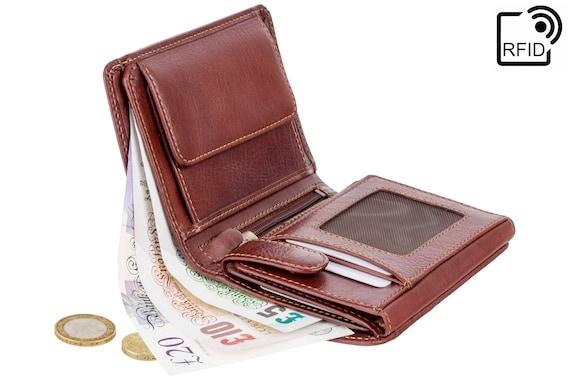 Cuir PU Anti SCAN//ID carte de crédit titulaire RFID Block Front Poche Portefeuille