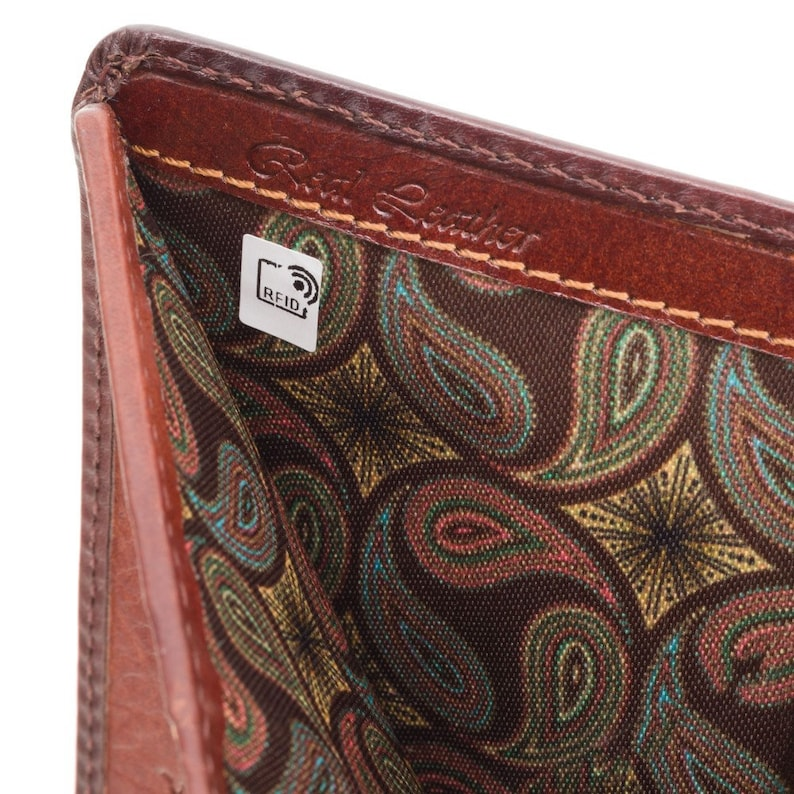 VISCONTI Hector AT62 Bifold Wallet For Men Card and Coin Section Handmade Wallet With Cash Burnished Tan Large Leather Wallet