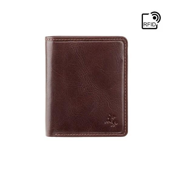Homme qualité premium de luxe en cuir noir souple carte de crédit titulaire wallet boxed