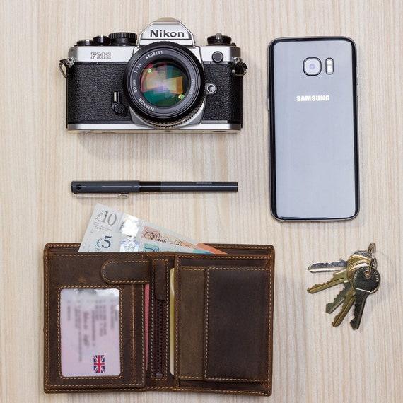 709 Visconti Da Uomo RFID Blocco CACCIATORI Portafoglio di Pelle per le carte Note Monete