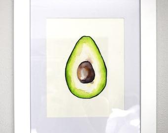 Avocado Print- 8 x 10- Watercolor- Illustration- Print