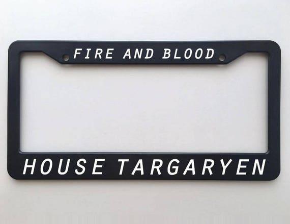 House Targaryen Game of Thrones License Plate Frame Fire and | Etsy