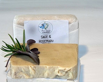 Vegan Rosemary and Sage Soap Bar approx. 100g
