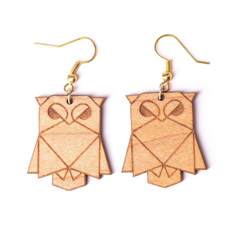 Wooden Owl Earrings Ovi Watch