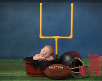 Mini Football Goal Post Newborn Prop with Padding and Stand
