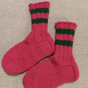 socks OOAK hand dyed Children bamboo socks size 5