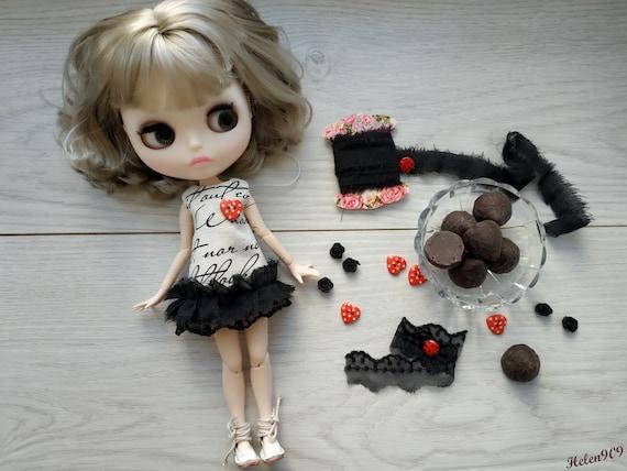 Ruruko licca mini dress cat  for Neo Blythe Blythe Elfdoll Hana,Skipper