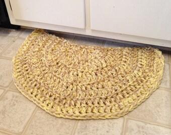 Tea and Honey, Half Moon, Crochet Rug