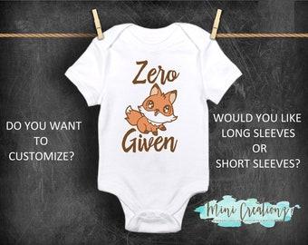 cac670413 Zero Fox Given Onesies®, Cute Baby Onesie, Funny Baby Onesie, Custom Onesie,  Custom Baby Shower Gift, Unisex Onesie, Personalize, Fox Onesie