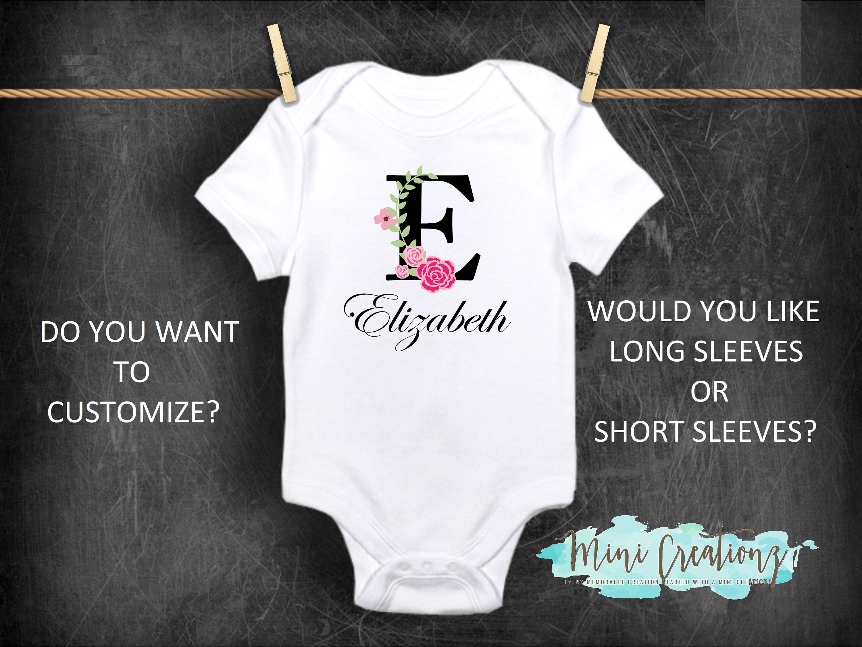 d3ffc782f1279 Custom Name Onesies® Cute Baby Onesies® Personailize   Etsy