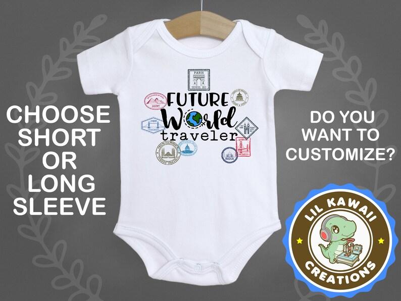 3ba53856c Future World Traveler Onesie® Cute Baby Onesie Explorer | Etsy