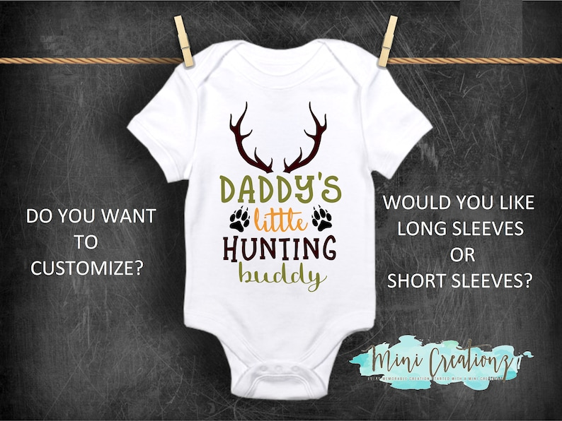 64f4bb761 Daddy's Hunting Buddy Onesies® Cute Baby Onesies Hunting | Etsy