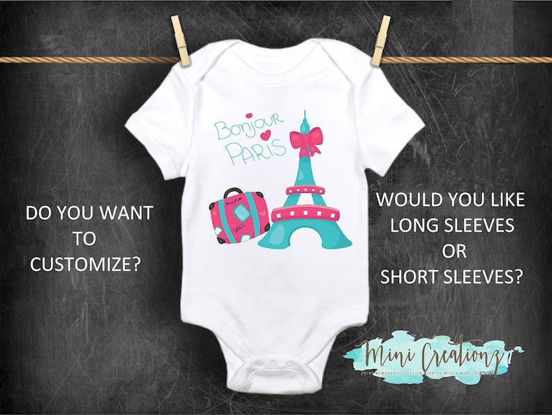 Paris Eiffel Tower Toddler Baby Boy Girl Long Sleeve Infant Cotton Bodysuits Onesies