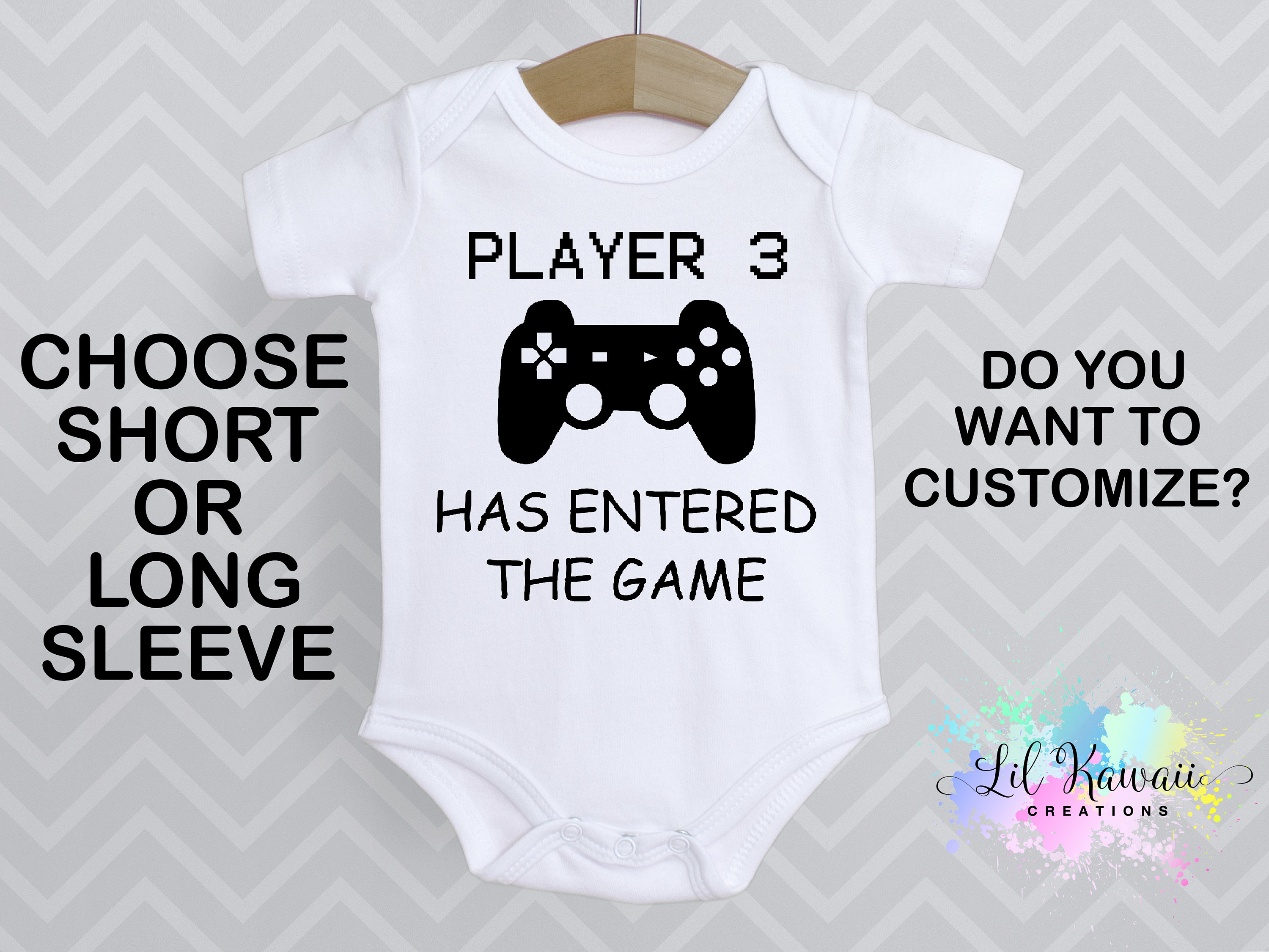 27e35abf4ef Player 3 Has Entered The Game Onesies®, Cute Baby Onesie, Baby Reveal  Onesie, Daddy Onesie, Gamer Onesie, Player Three, Player 3, Video Game