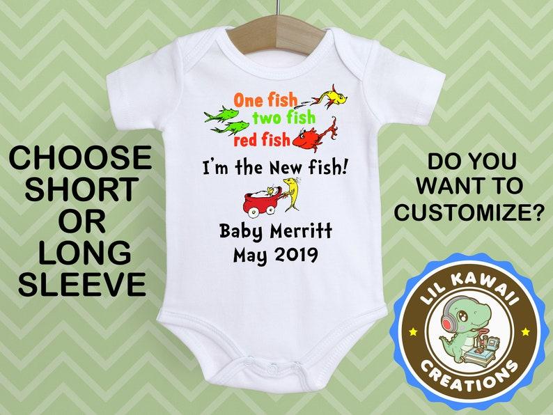 3ff4b45f6 One Fish Two Fish Onesie® Cute Baby Onesie Dr Seuss Onesie | Etsy