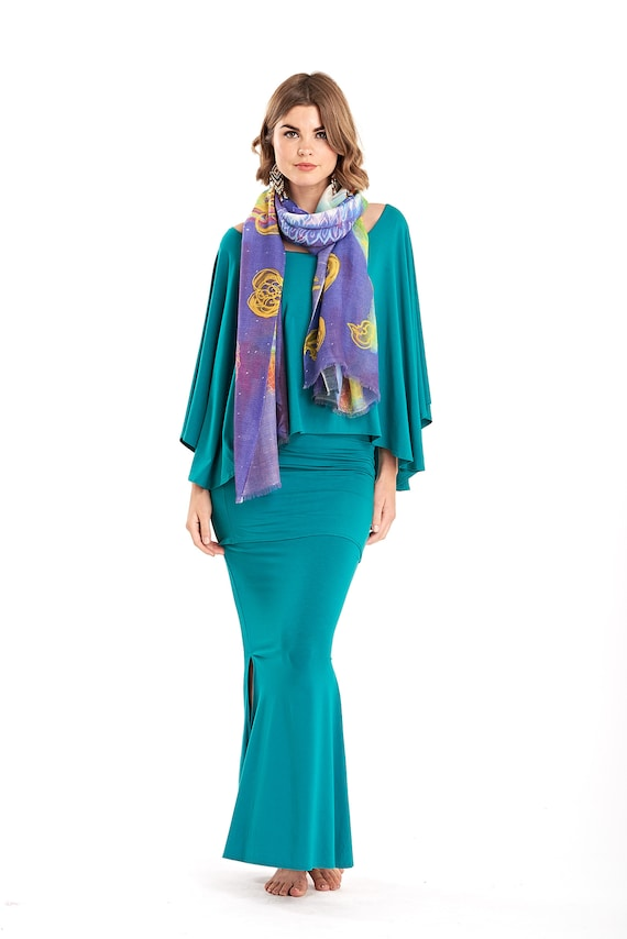 Bamboo Scarf Brown \\ Head Wrap \\ Wrap \\ Shawl \\ Scarf  \\ Silky \\ Luxury\\ Elegant \\ Evening Wear \\ Tantra \\ Yoga