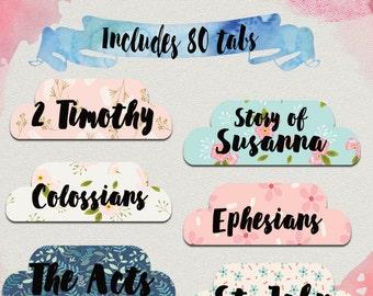 DIGITAL Bible tabs, bible journaling, printable bible tabs, King James bible tabs, bible labels, bible study, bible accessories