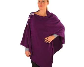 BiggDesignMy Eyes are on You Poncho, Purple Poncho,