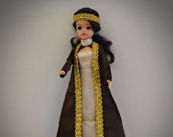 Beautiful vintage outfit Sindy Pedigree Night Spot + matching brown shoes and headband / #44305 / 1977 / Complete set