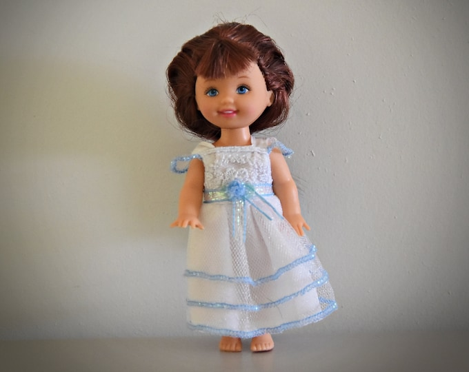Vintage Barbie Little Sister Kelly / Mattel / Super pretty dress with pink label Genuine / 1994