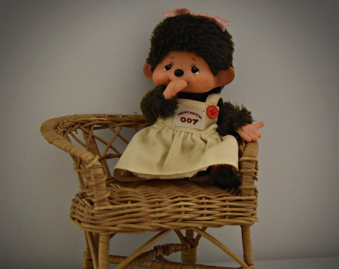 Very beautiful vintage baby Monchhichi ± 13 cm / Sekiguchi Japan / + Monchhichi fashion