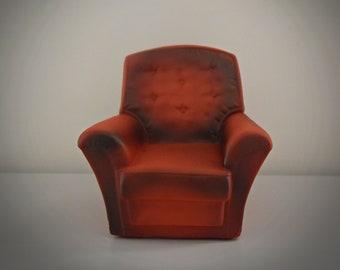 Vintage Sindy Pedigree Armchair / red vintage chair / Art. No. 44520