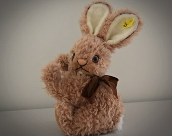 Vintage original Steiff Cosy Mummy / cute rabbit / Mohair / + button in earpiece / moving cup