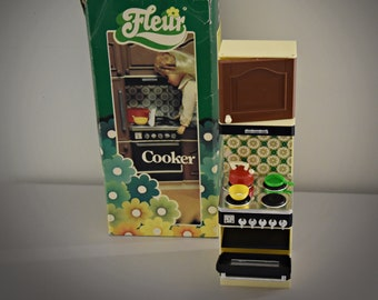 Otto Simon Fleur (Dutch Sindy) Cooker/original packaging/with accessories/ART. NR: 385-2370/Holland