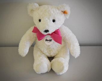 Vintage original Steiff White Bear / 673566 - cute bear / all IDs present / late 90s