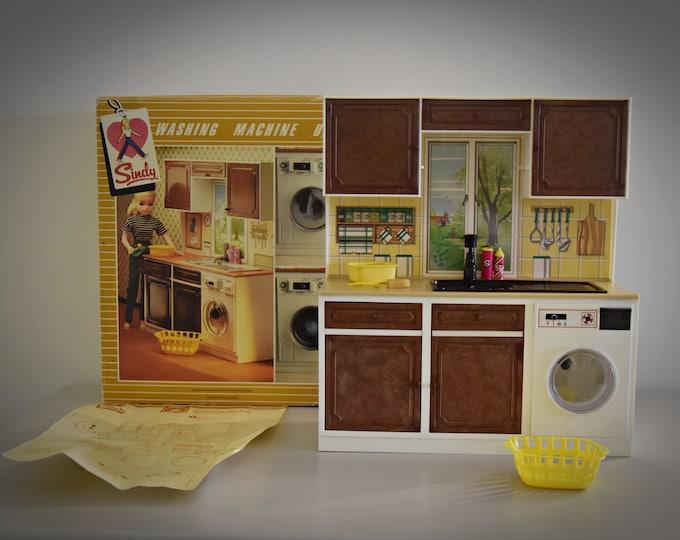 Vintage Sindy Pedigree Washing Machine Unit + Original Accessories / #44486 / Original Box and Manual / Collectors Item