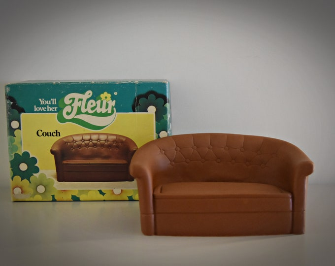 Vintage Fleur Otto Simon (Dutch Sindy) seat / Couch / luxury seat Fleur / article no. 385-2344 / original box