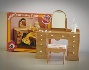 Vintage Mary Quant Daisy's Dressing Table, Mirrow and Stool / #1686721431 / + Accessories / Collectors item and rare