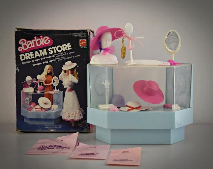 Vintage Mattel Barbie Dream Store / Hats & Handbags Counter / # 4021 / + Accessories / 1982
